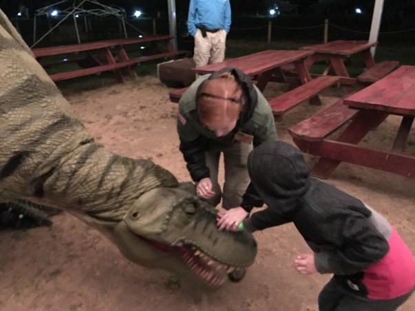 Petting T-Rex