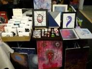 Apple of my Odd Eye's table @ the Bazaar of the Bizarre