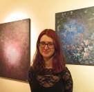 Me (Sarah) with my art. :)
