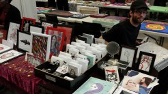 Devin at Apple of my Odd Eye's Mad Market table