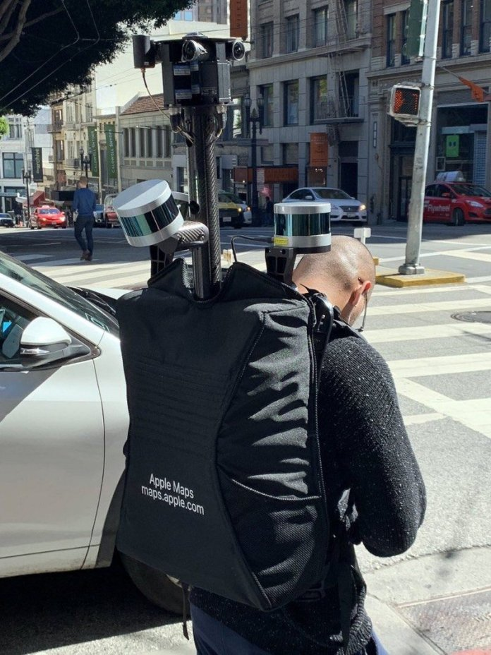 Apple Has Started to Collect Apple Maps Data Using Backpacks
