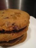 Stem ginger and dark chocolate cookies