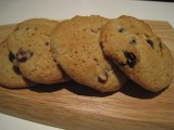 Spiced sultana and lemon cookies