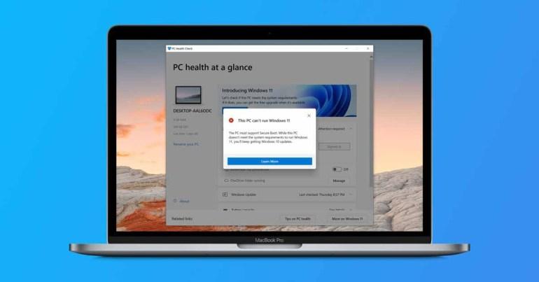 Windows 11 не будет официально поддерживаться ни одним Intel Mac