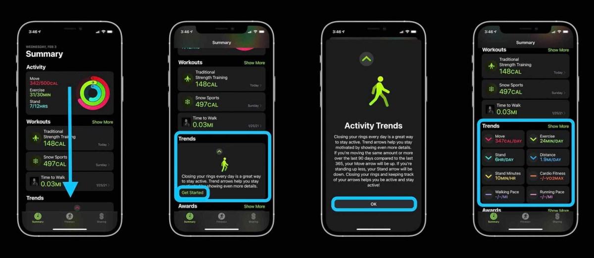 Как увидеть шаги Apple Watch, тенденции и т. д.