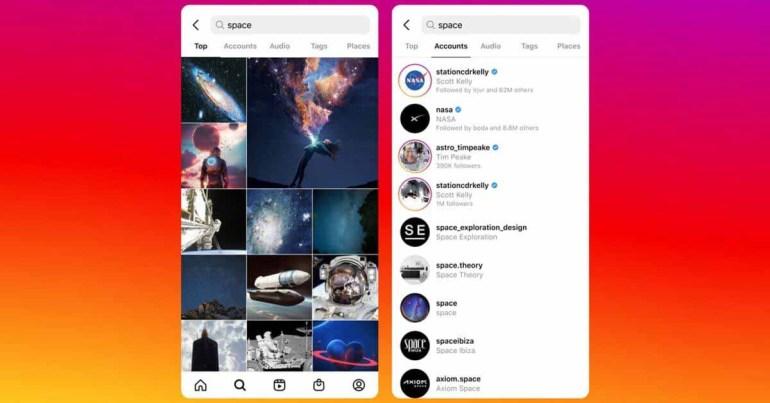 Instagram работает над новым поиском с фото и видео предложениями