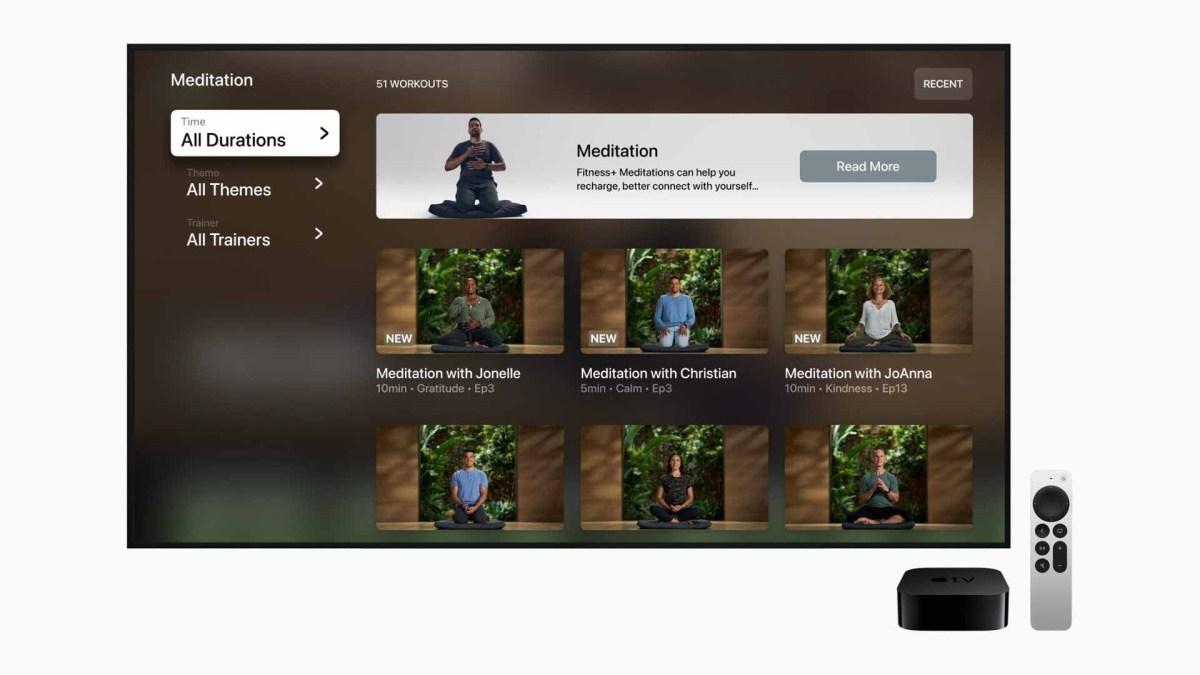 apple фитнес + медитация с гидом apple tv 9to5mac