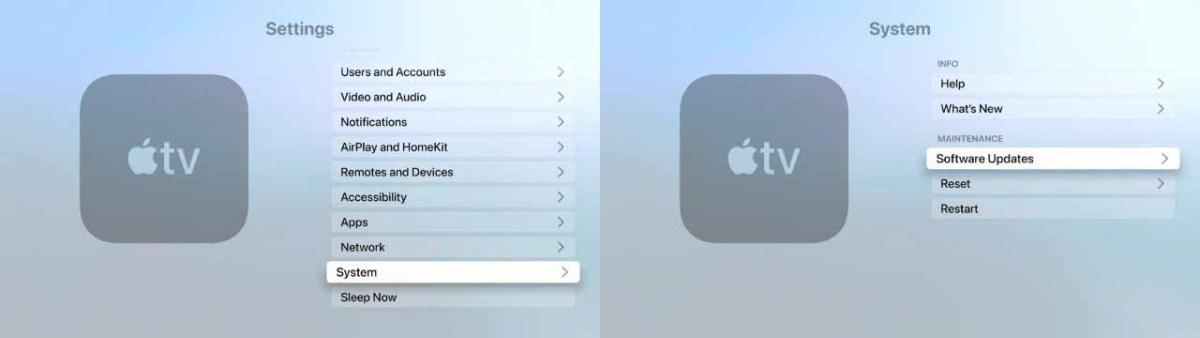 Сначала попробуйте вручную обновить Apple TV 4K или Apple TV HD