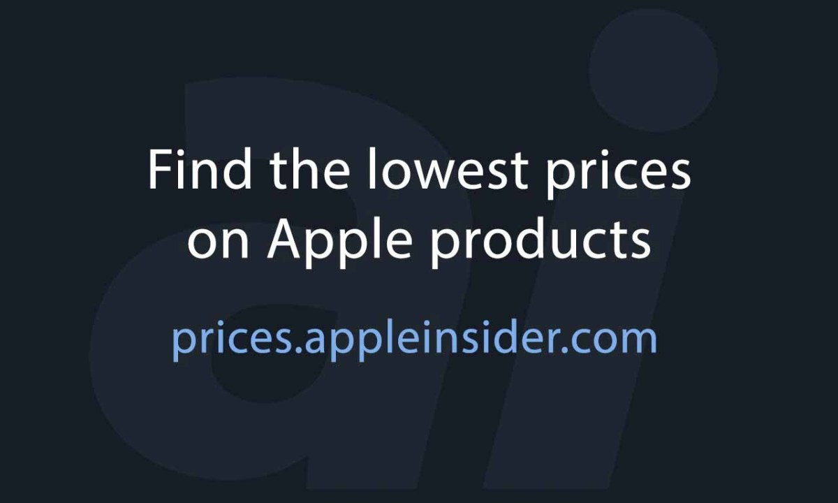 Текст «Лучшие цены на Apple» с логотипом AppleInsider