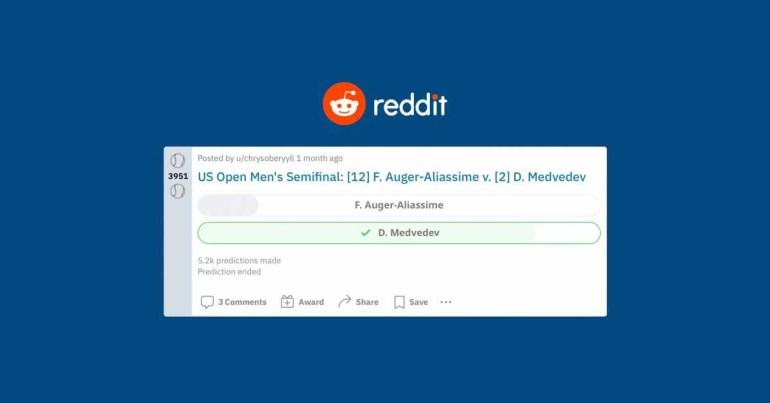 Reddit предлагает пользователям турниры с предсказаниями