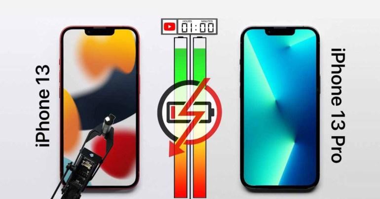 Тест батареи iPhone 13 и iPhone 13 Pro показывает, насколько ProMotion повышает эффективность [Video]