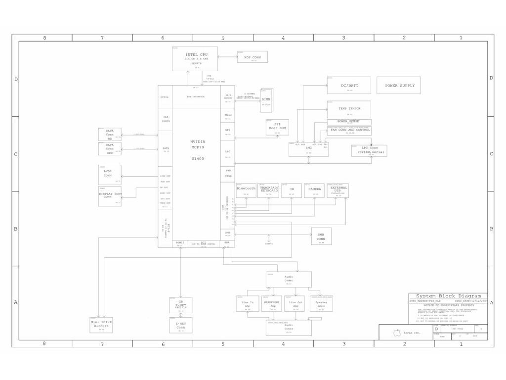 Apple Macbook Pro A Schematic 820 Schematic