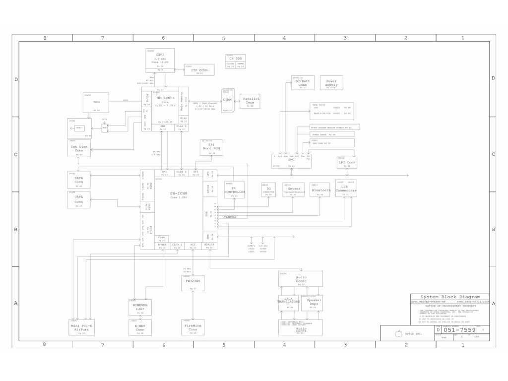 Apple Macbook A Logic Board Schematic 820