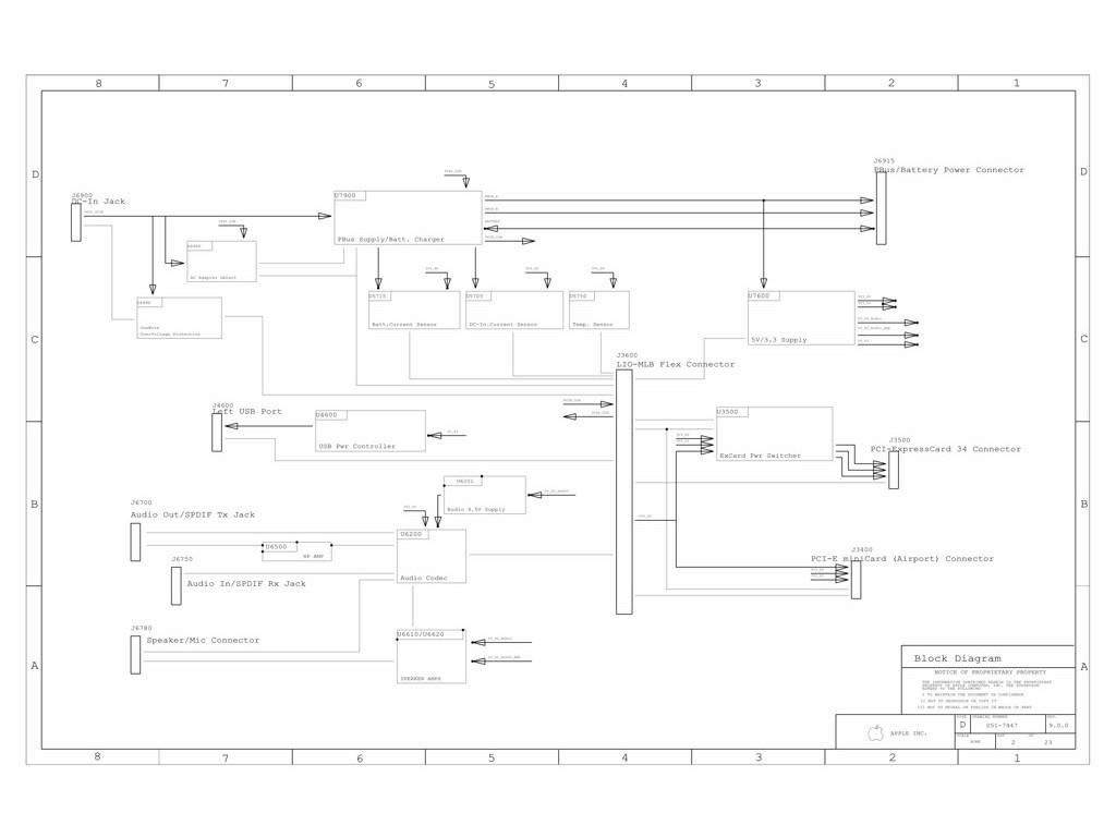 Apple Macbook Pro A Lio Schematic