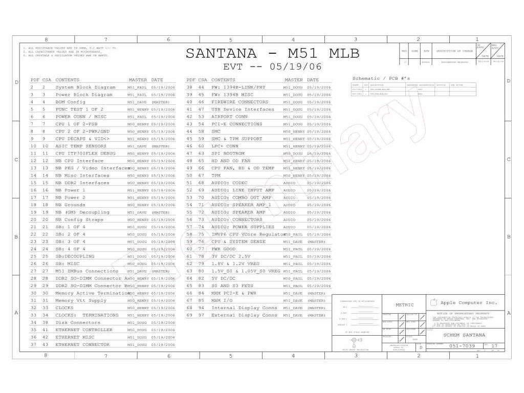 Apple Imac 24 Logic Board Schematic Apple Santana M51