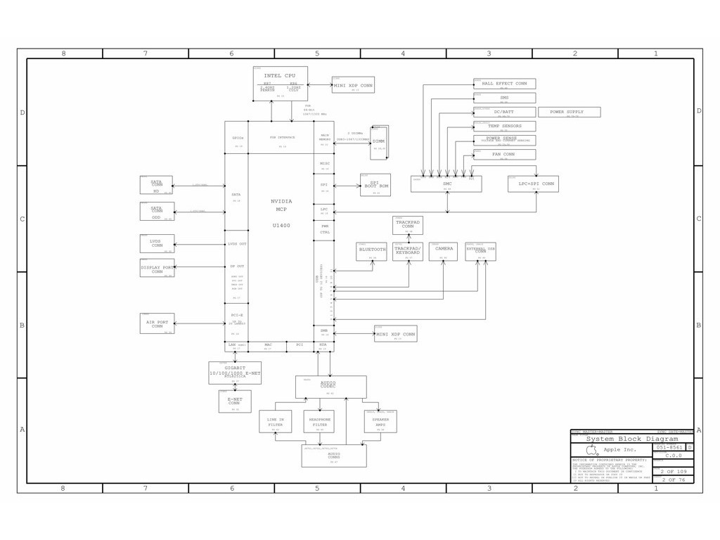 Apple Macbook 13 Unibody A Schematic Schem Mlb Ldo