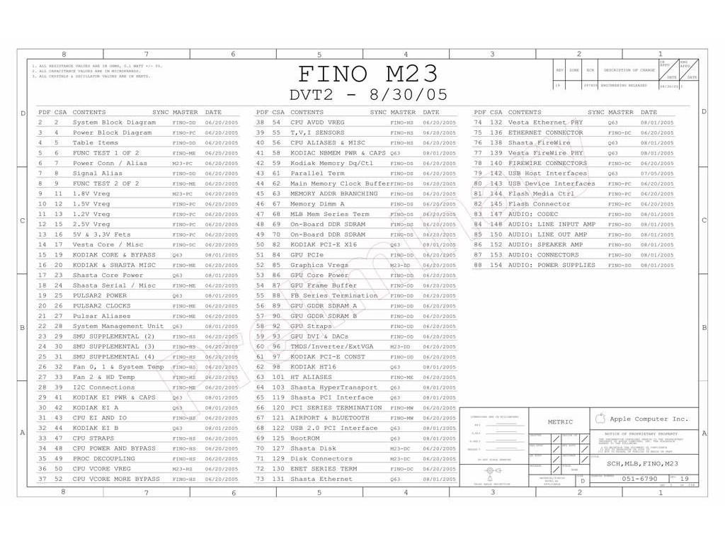 Apple Imac G5 Isight 17 Logic Board Schematic Fino M23