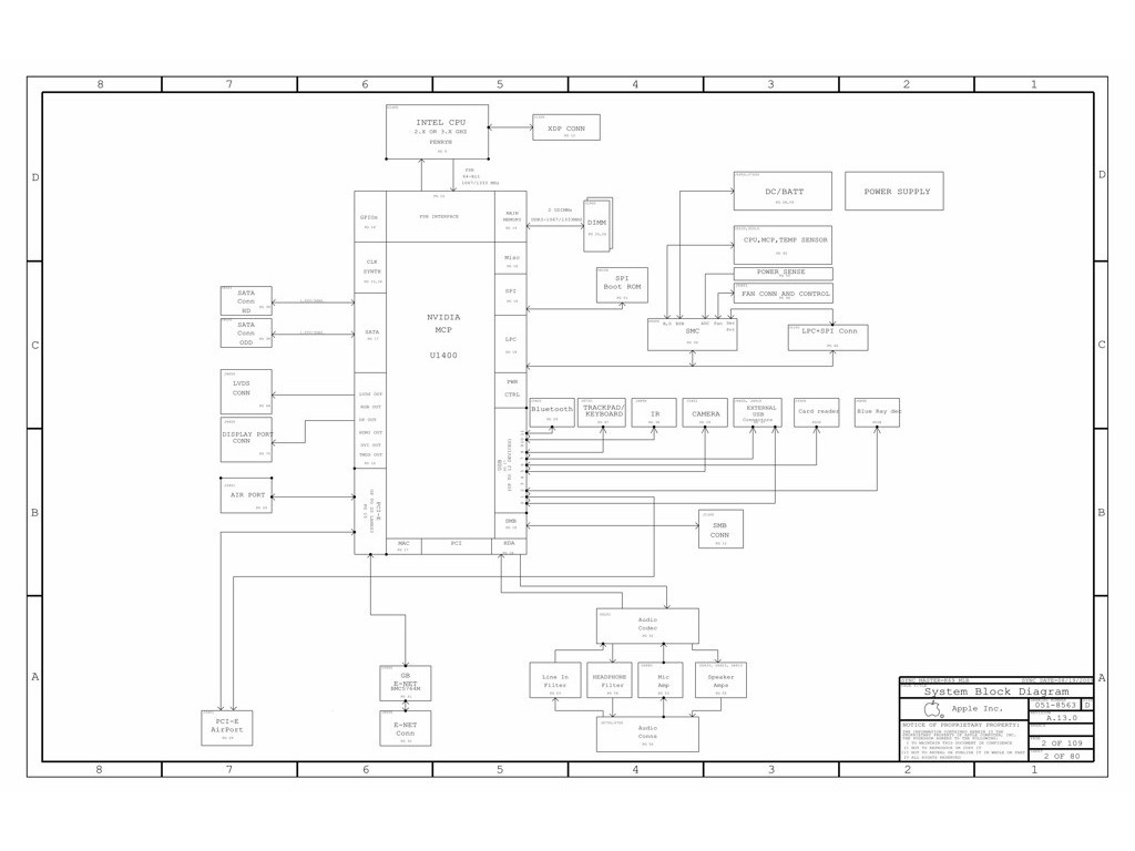 Apple Macbook Unibody A Logic Board Schematic Schem