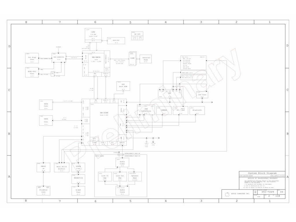 Apple Imac 24 A Schematic 820 Sch M78 Mlb