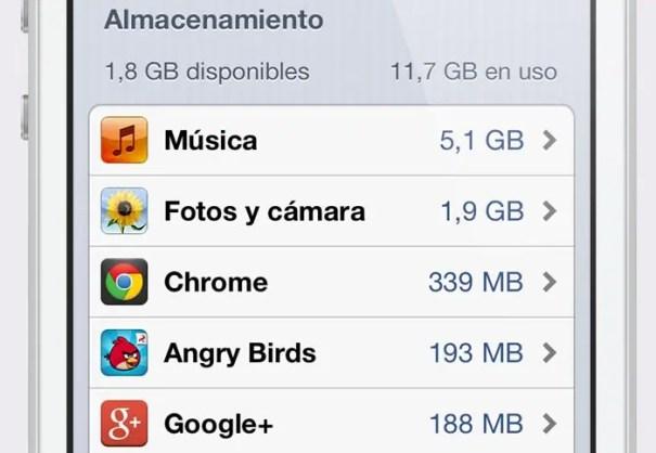 Resultado de imagen de almacenamiento lleno iphone