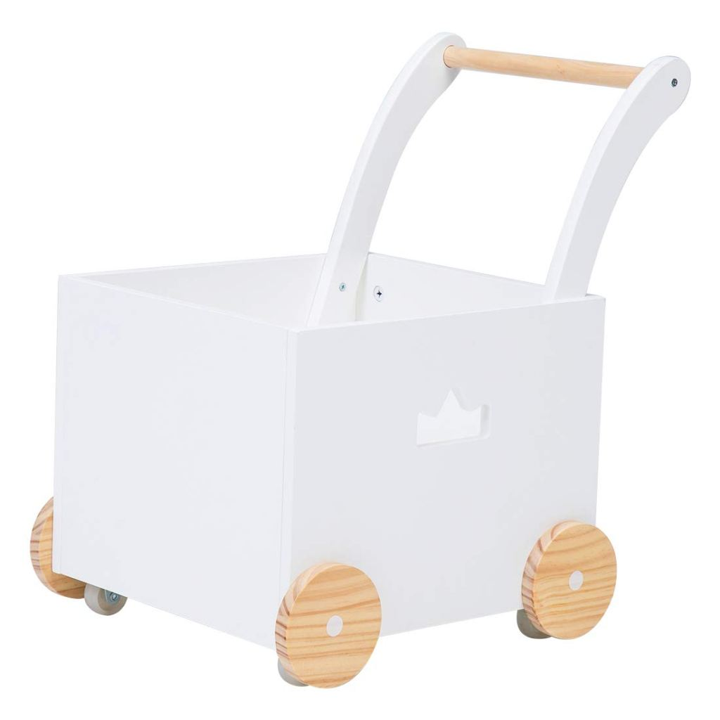 Gifts for 10 and 11 month olds. The perfect gifts for babies 40 to 52 weeks old. A fun wooden walker for little hands and feet. Good for carrying toys and things around.