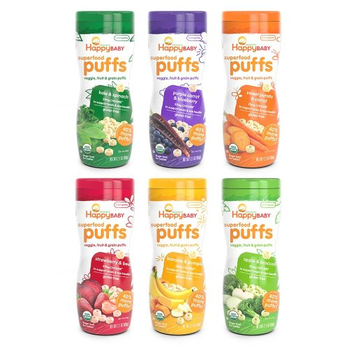 Easy to eat puffs for your baby to snack on and enjoy
