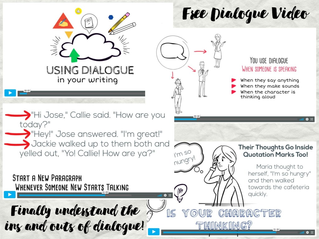 Free dialogue video for writer's workshop