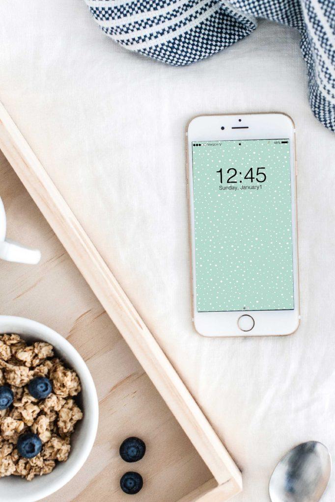 Pretty, snowy, phone background