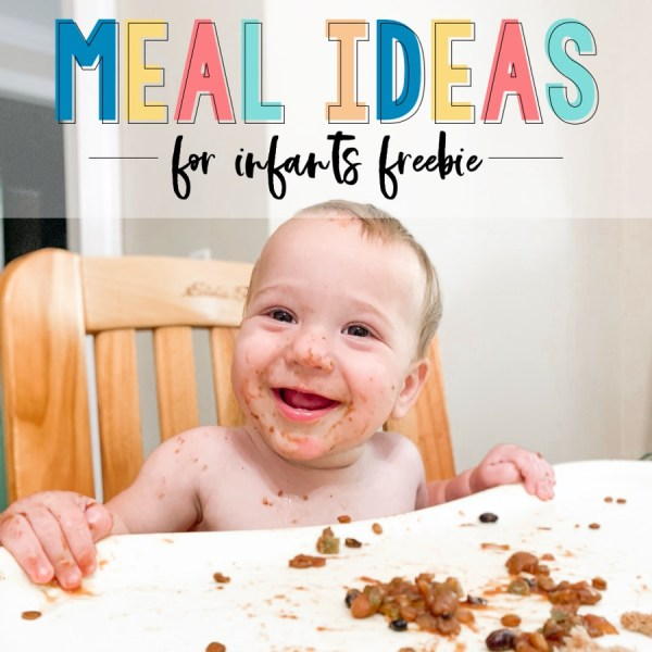 Free meal ideas for infants and babies