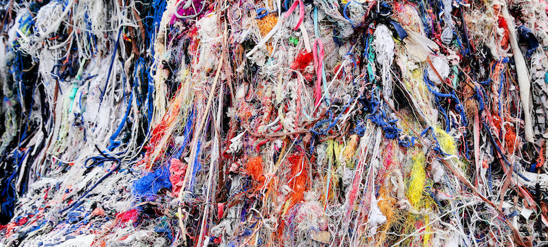 Textile waste, as seen above, is a major polluter in Southeast Asian countries like Bangladesh