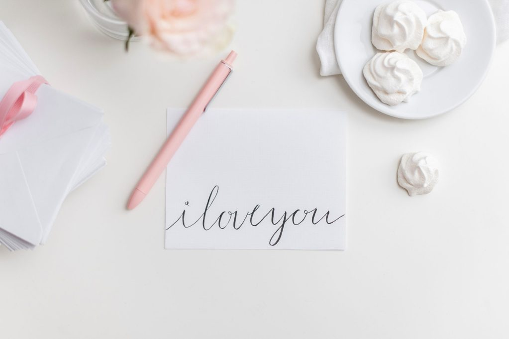 Write your wife a loving note as a Mother's Day gift idea