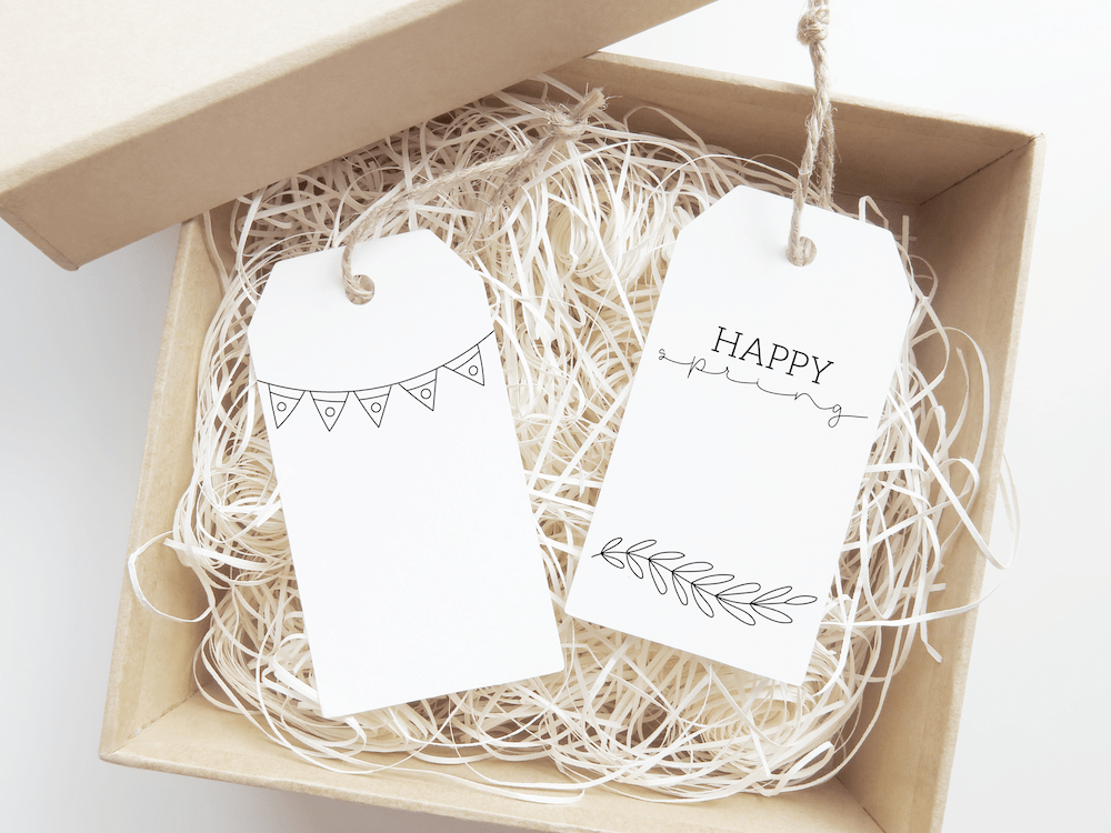 Free Printable Spring and Easter gift tags