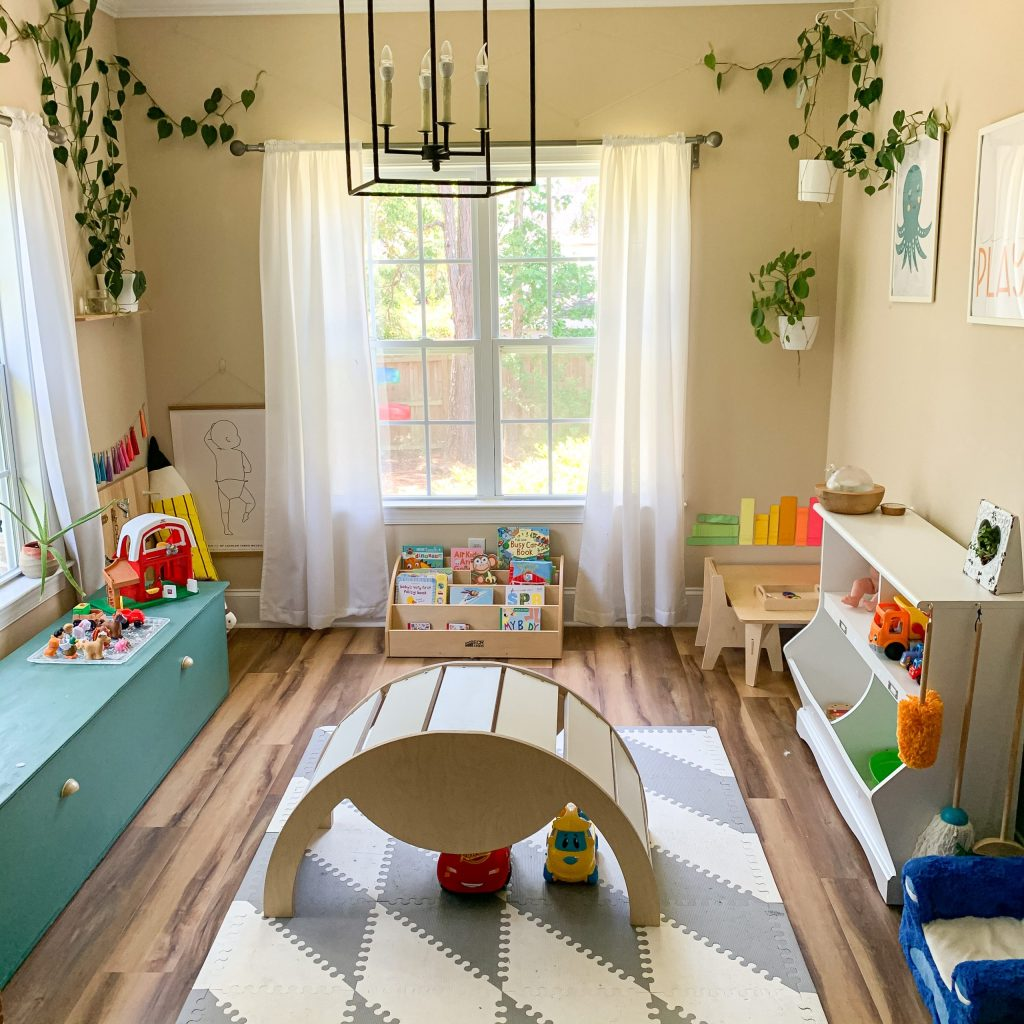 a playroom setup up to encourage. independent play