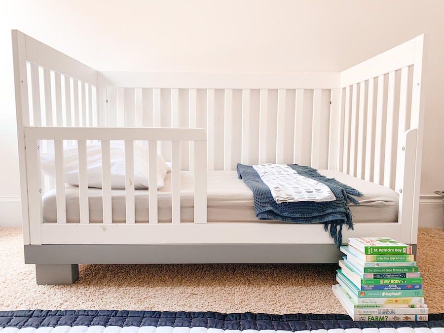 Transitioning from a crib to a toddler bed