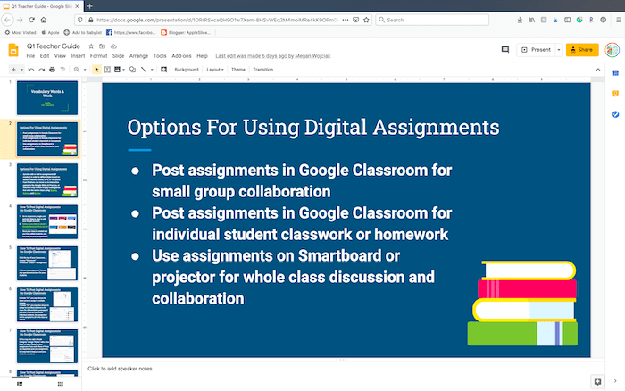 Options for using digital assignments in the online classroom
