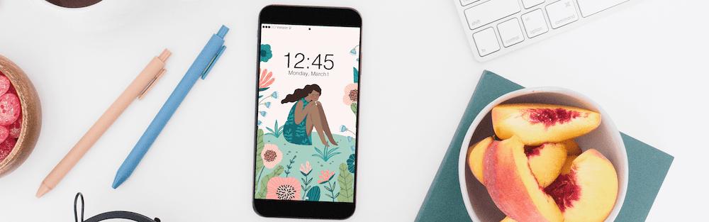Gorgeous woman phone wallpaper