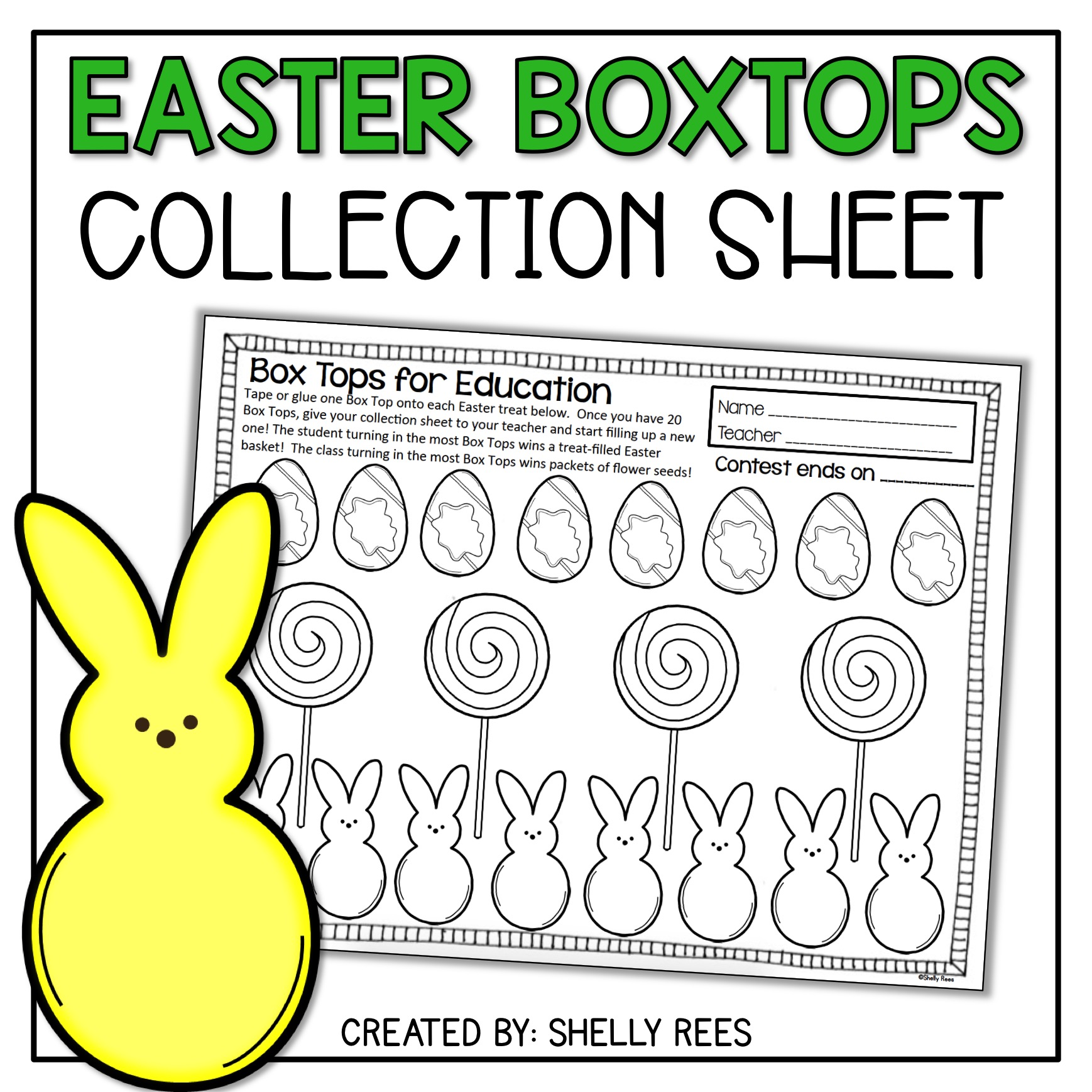 Easter Boxtops Collection Sheet