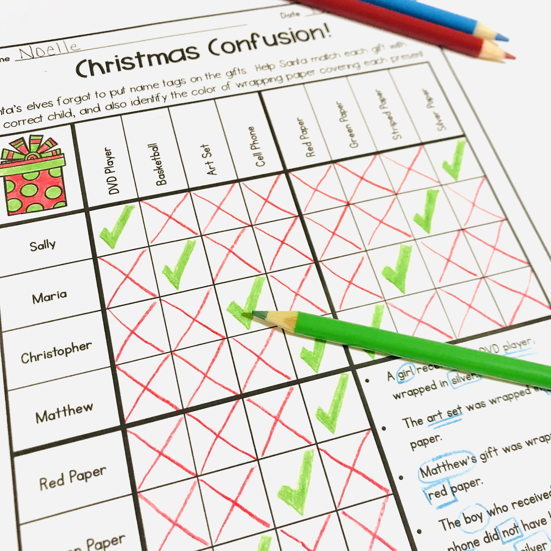 5 Fun Christmas Math Worksheets For Upper Elementary