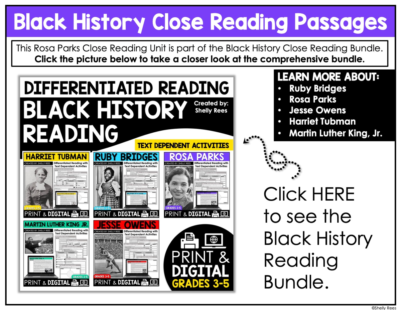 Rosa Parks Reading Passage And Worksheets