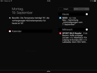 iOS 9 Notification-Center