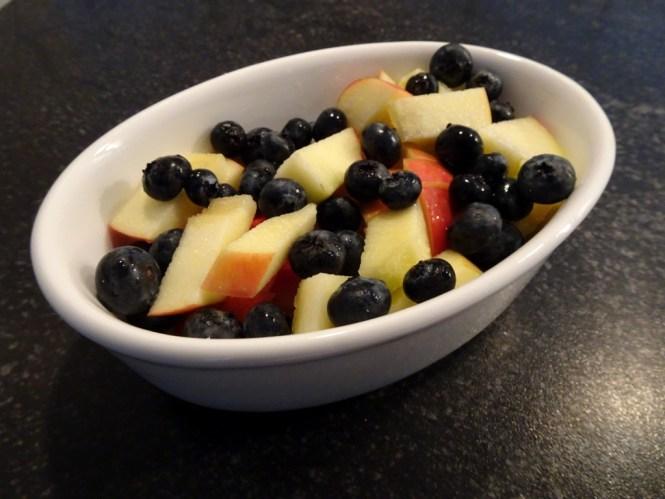 äpfel und heidelbeeren