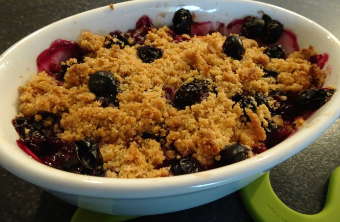 crumble gebacken
