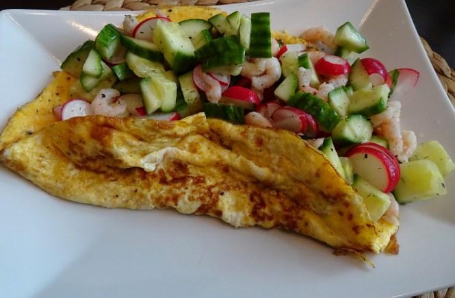 omelette mit krabben