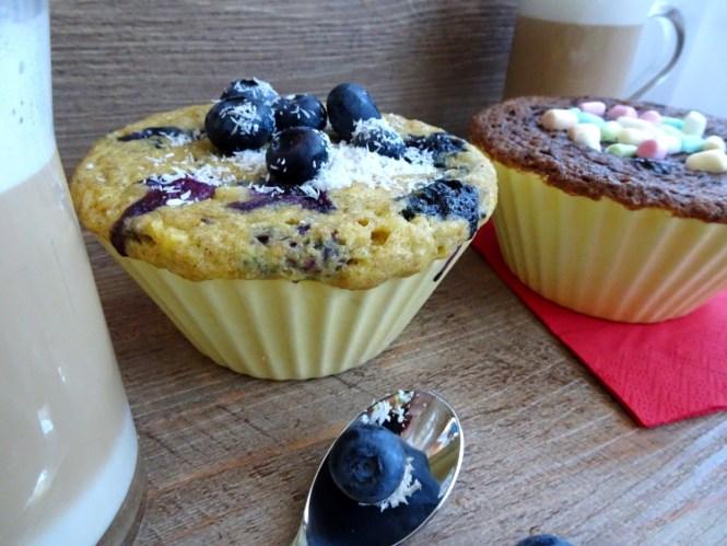 mug cake blaubeere