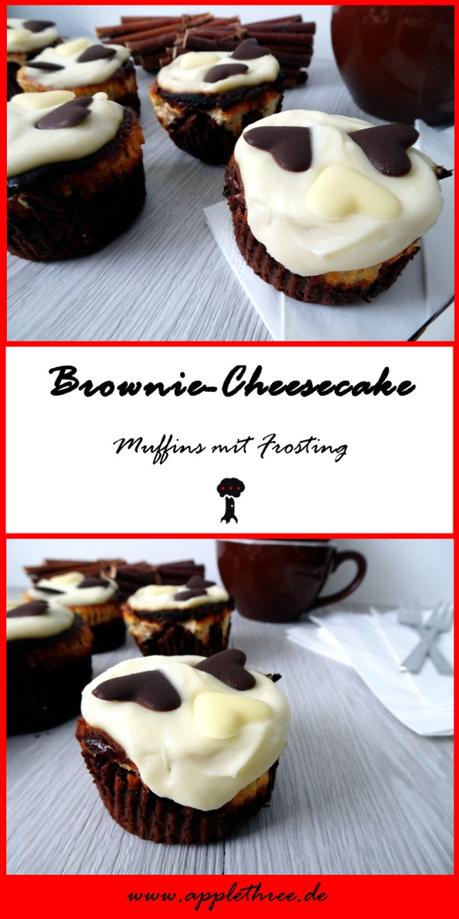 brownie cheesecake muffins pin