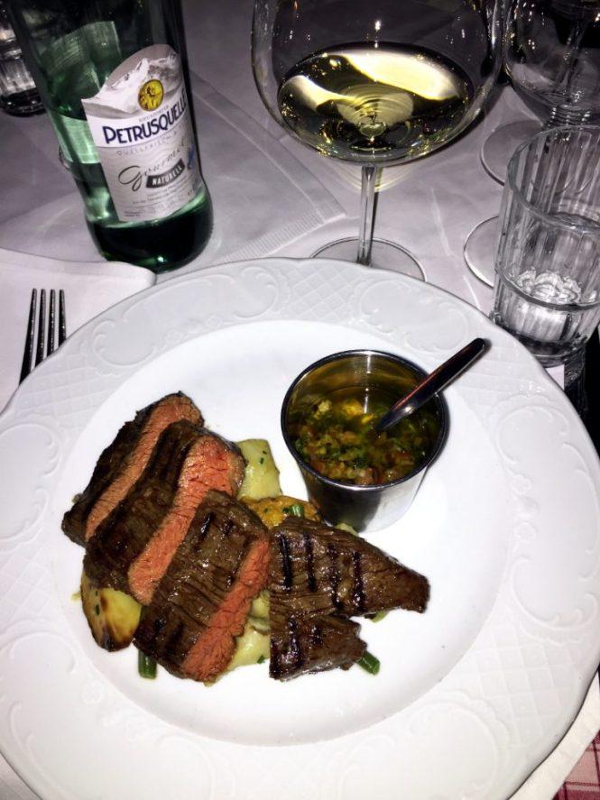 cotes du rhone flank steak chez fritz