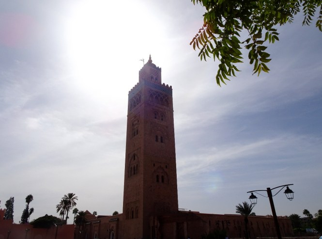 Marrakesch tipps travelguide koutoubia moschee sonne