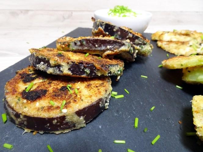 käuse-kräuter kruste auf aubergine low carb rezepte