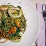 meeresfrüchte mit knoblauch pasta