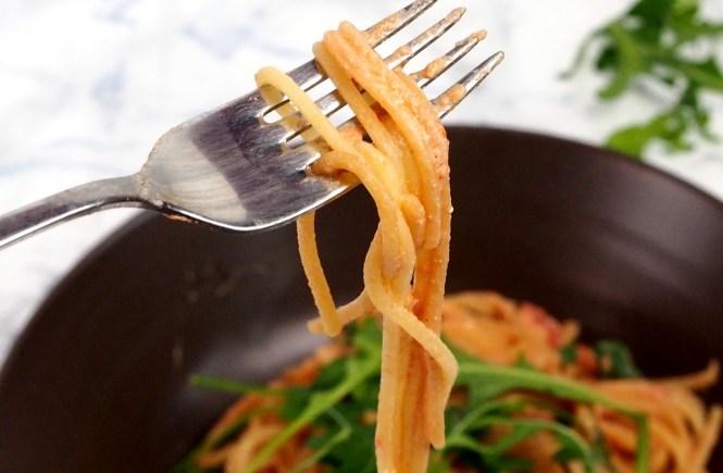 one pot pasta dinkel rucola creamy